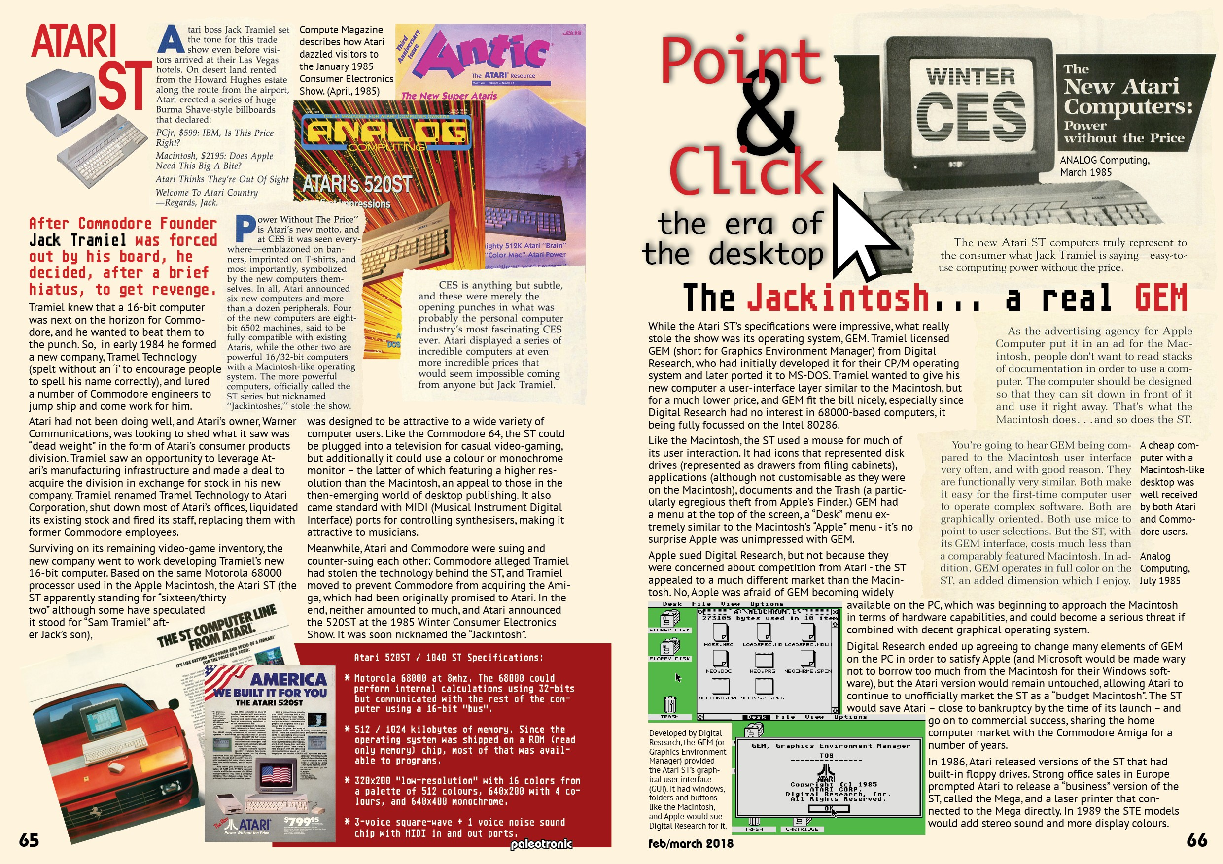 The Jackintosh: A Real GEM – Remembering the Atari ST - Paleotronic