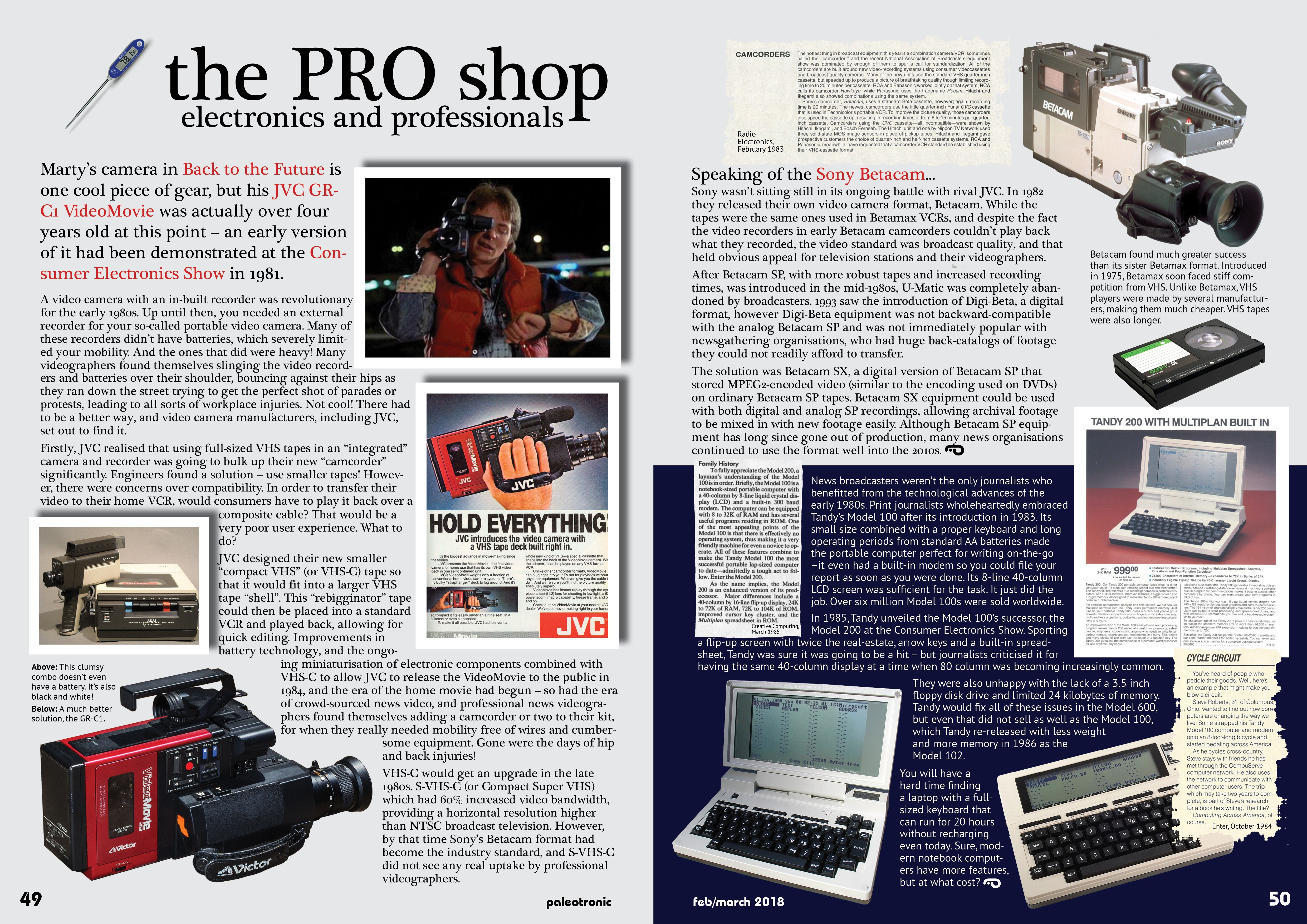 80s Electronics To Go Looking Back At Early Camcorders And Laptops Paleotronic Magazine